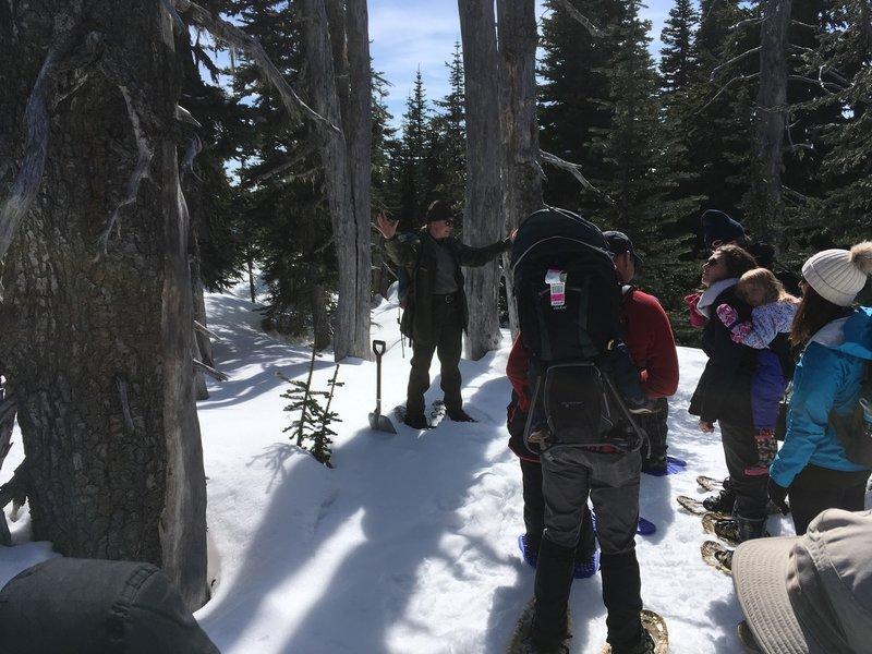 Ranger talking about wildlife.