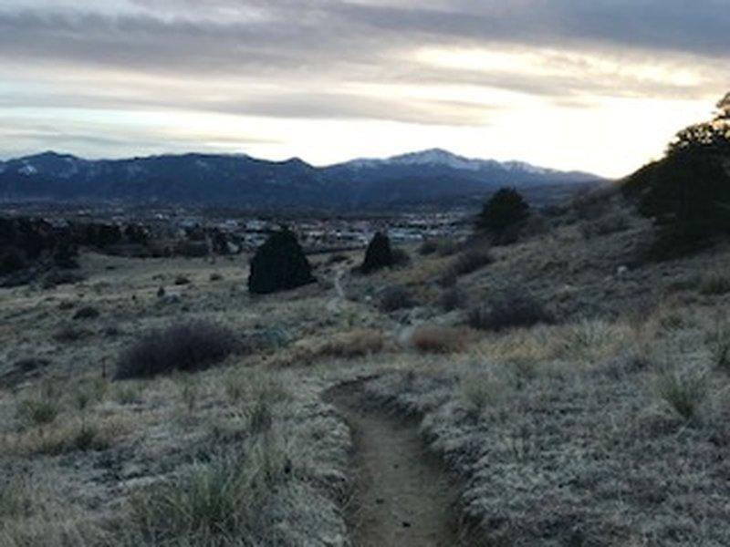Looking toward Pike's Peak near the Heller Center