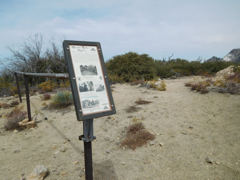Historical information on top of Mt. Lowe.