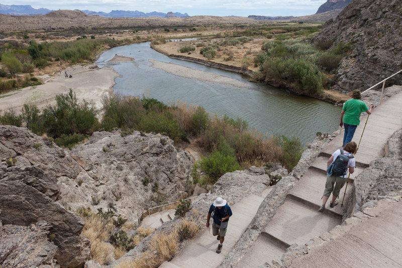 climbing to Rio Grande viewpoint