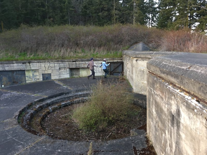 The platform for a 6 inch gun.
