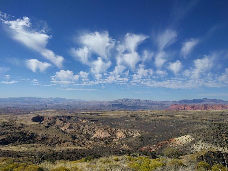 Looking west toward Ivins, ghostly clouds
