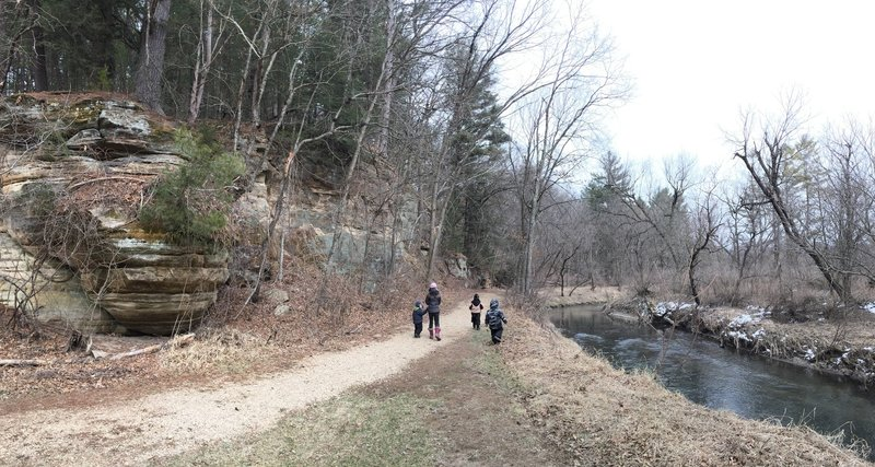 Between the bluffs and creek