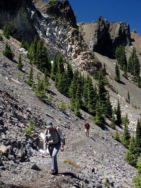 Climbing the PCT north of Devils Peak