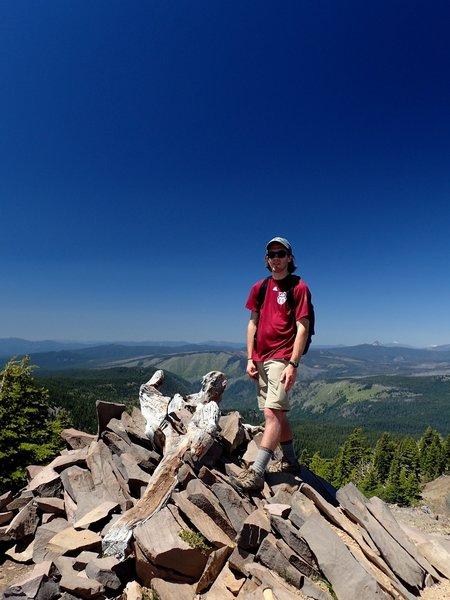 On the summit of Devils Peak