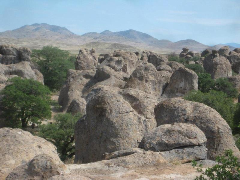 View of the boulders