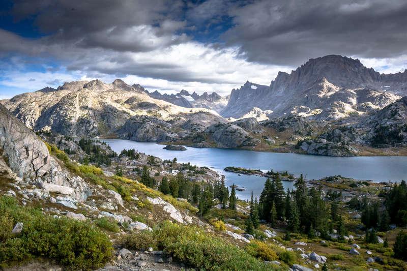 Backpacking to Titcomb Basin, Island Lake.
