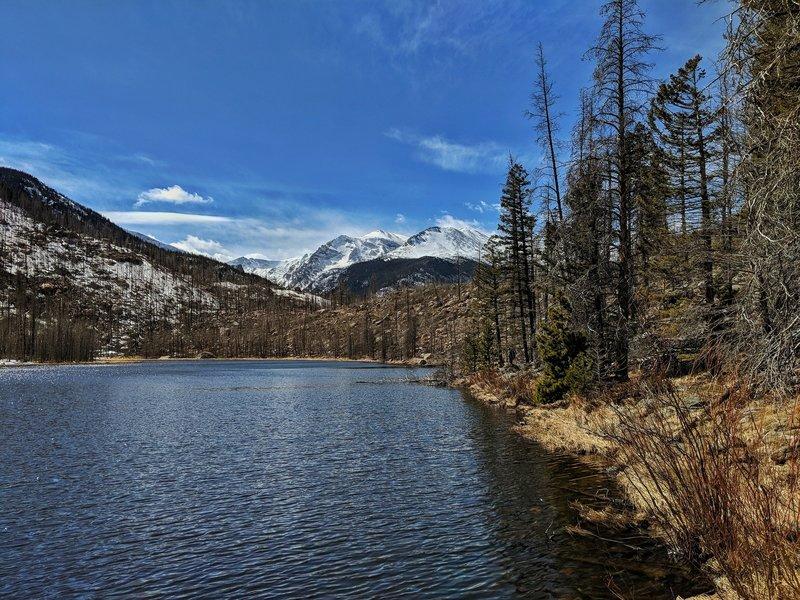 Cub Lake has an awesome Mountain View!