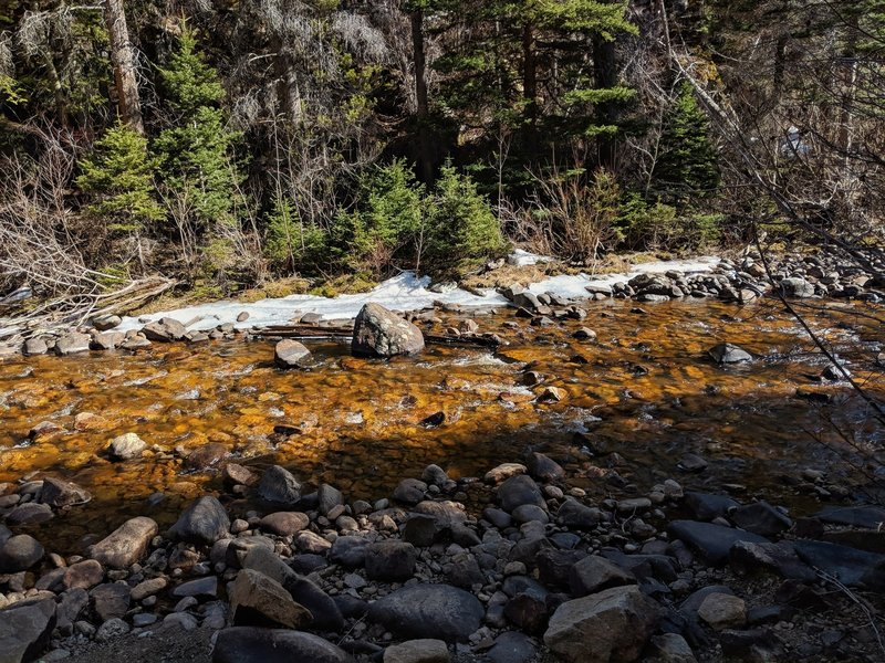 Snow melt is slowly strengthening this river