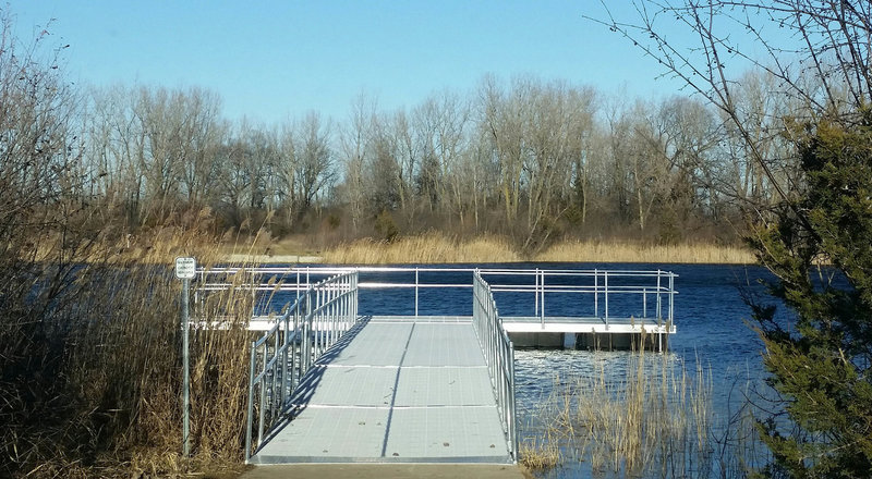 Pier at Hollows Conservation Area - Photo courtesy of McHenry County Conservation District
