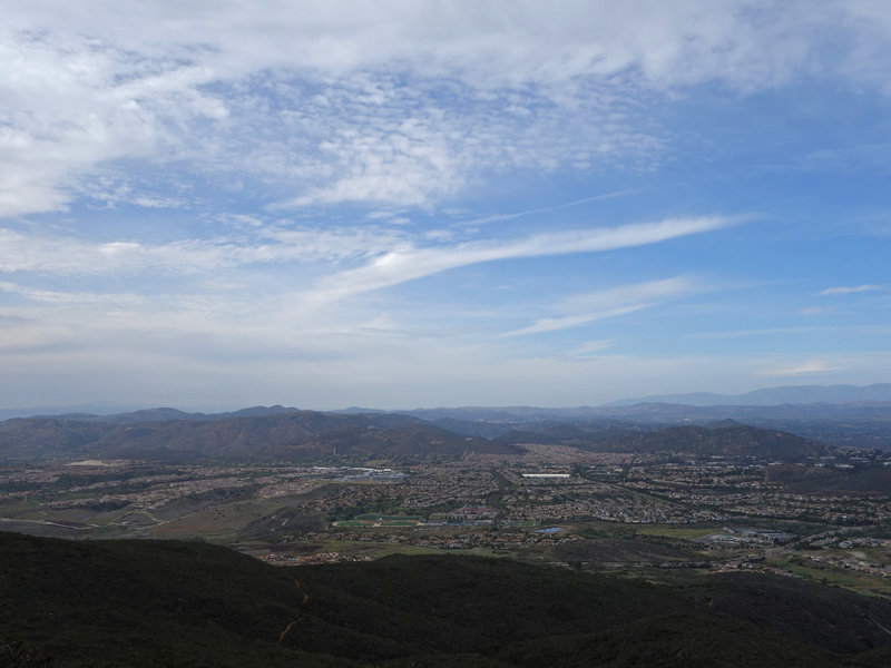 View north towards 4S Ranch and Del Norte High School from the top of Black Mountain
