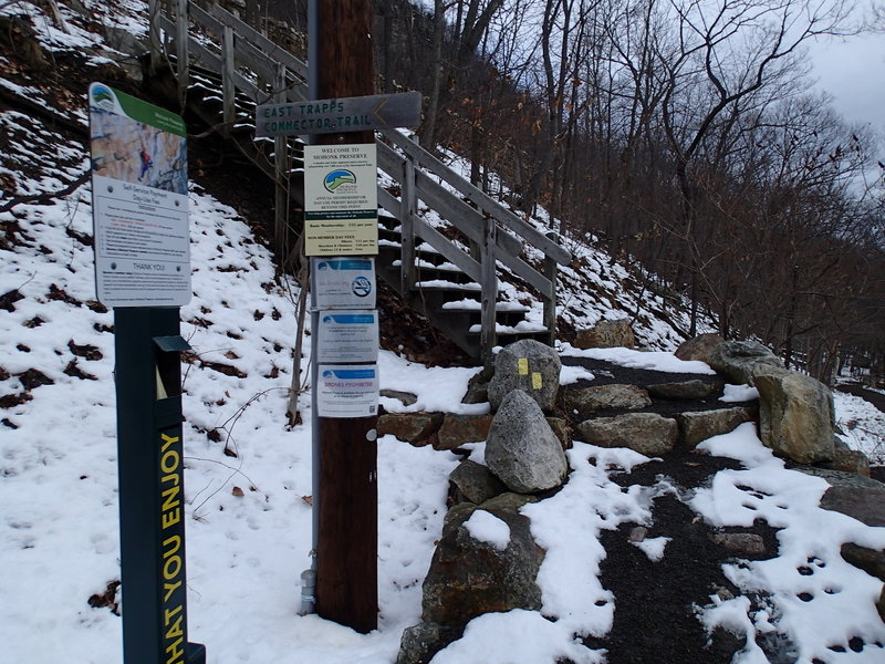 Start of the Undercliff Connector Trail