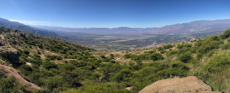 East across Calchaqui Valley from 3/4-way up Cafayate: Hike to the Cross