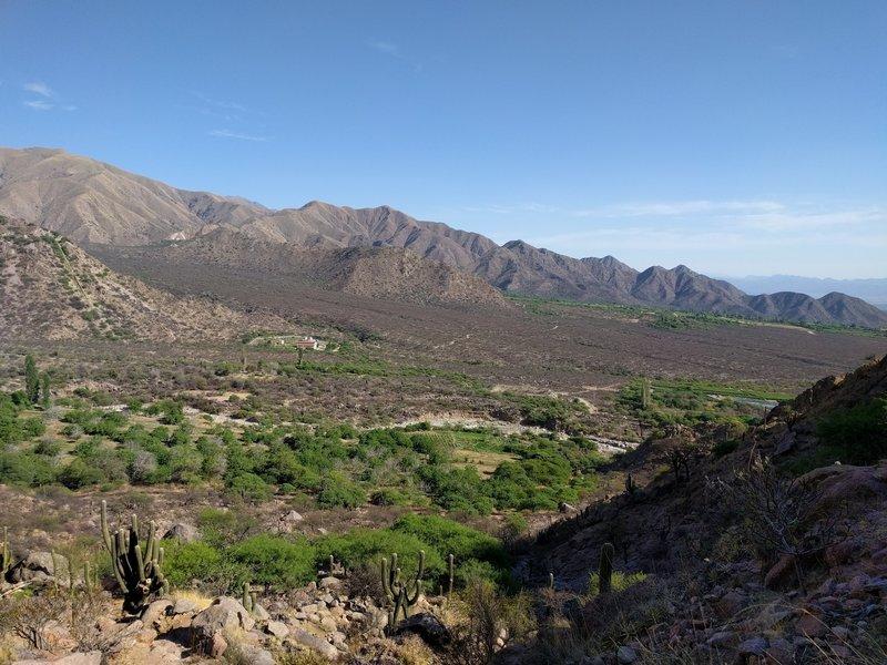 Piatelli and San Pedro de Yacochuya vineyards. Looking north.