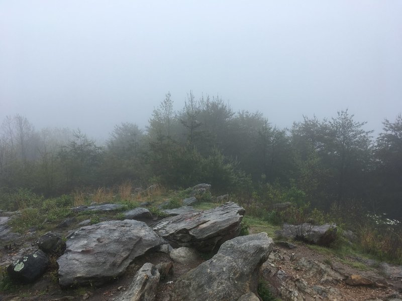 When it's all socked in it reminds me of other bald summits on the AT