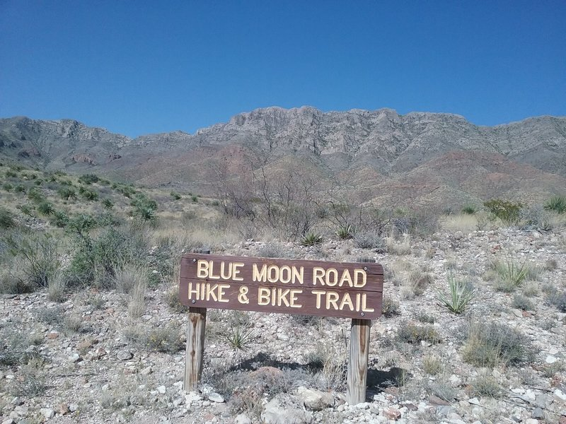 Trail Marker and Franklin Mountains