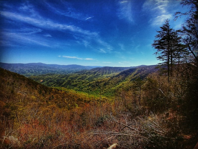 View from the Cool Springs Overlook (trailhead)
