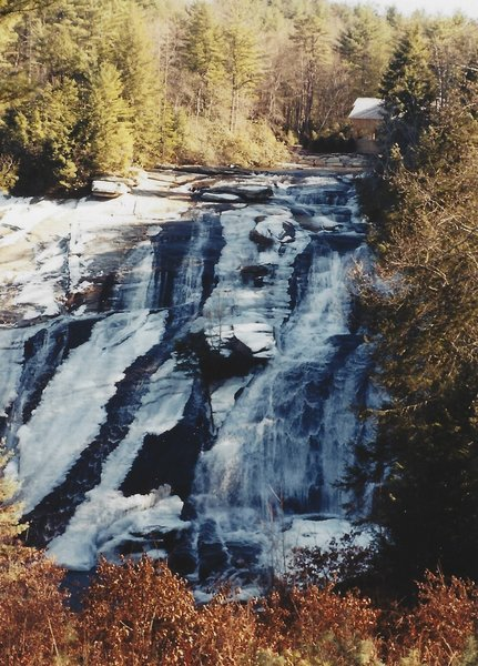 The High Falls during the winter