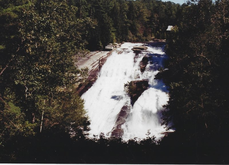 View of High Falls in the summer
