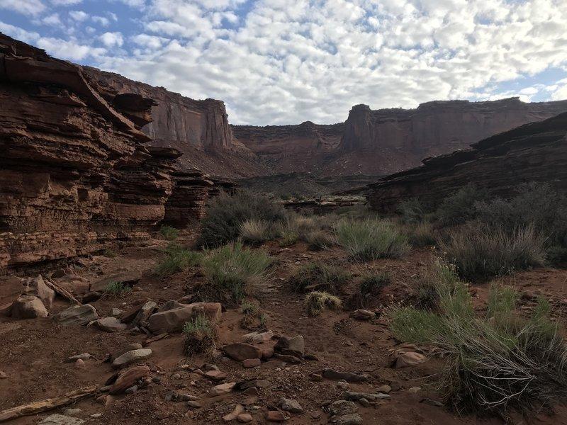 heading back towards the murphy hogback trail