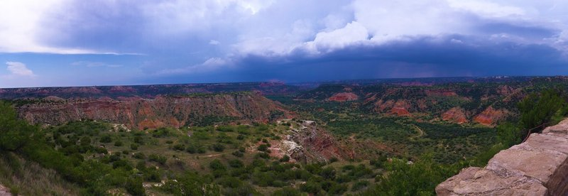 Palo Duro Canyon, with a storm moving in.