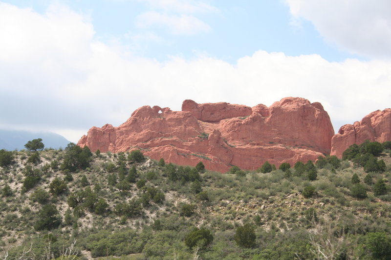 Kissing Camels, as seen from Ridge Rd.