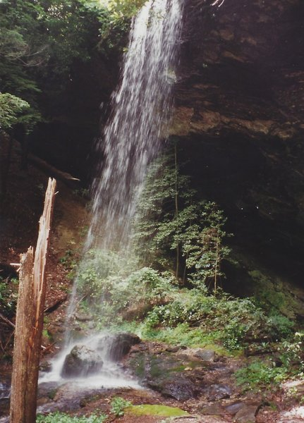 Side view of Moore Cove Falls