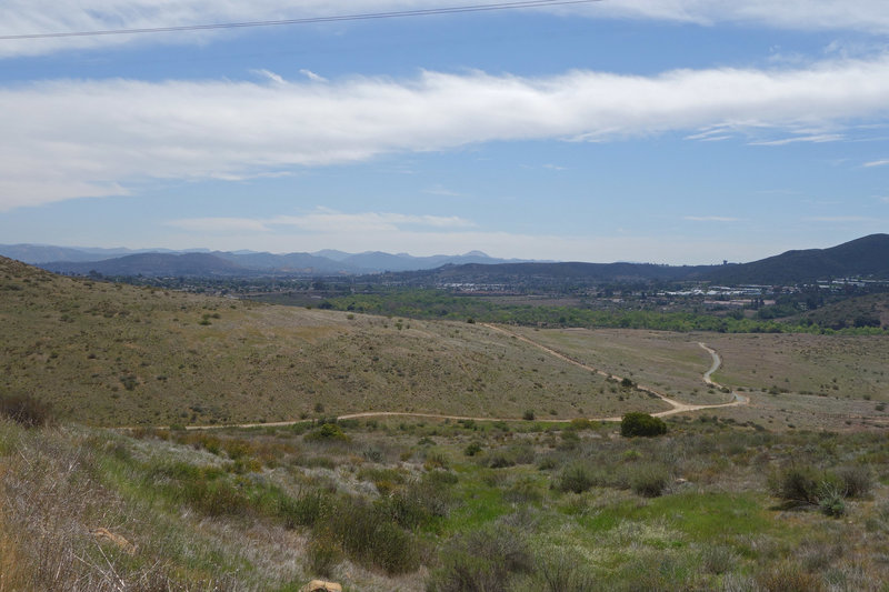 View southeast from the North Fortuna Trail at Mission Trails Regional Park