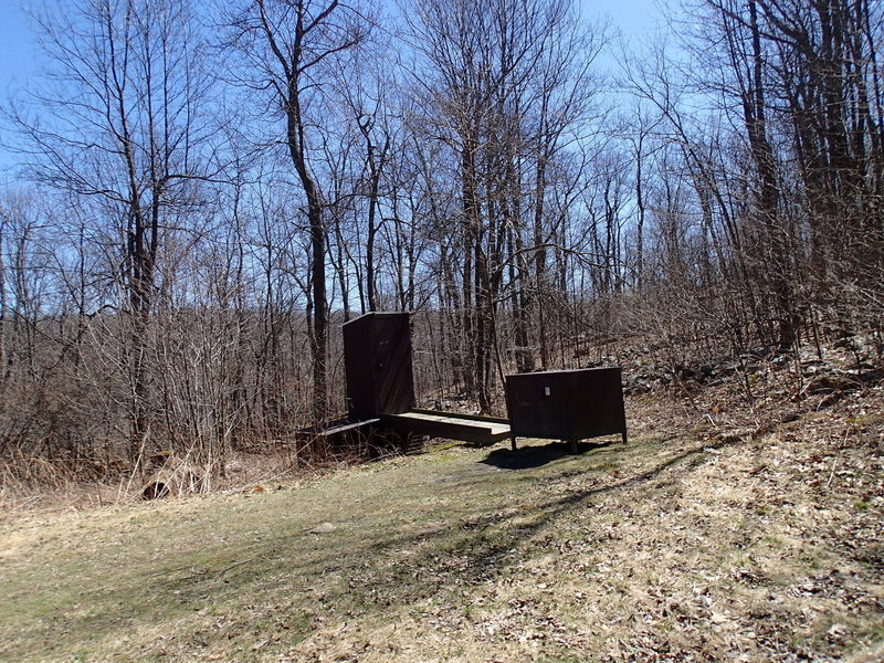 Outhouse and bear box at shelter