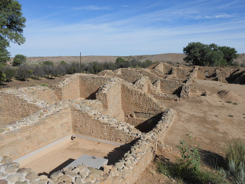 View of the main ruins
