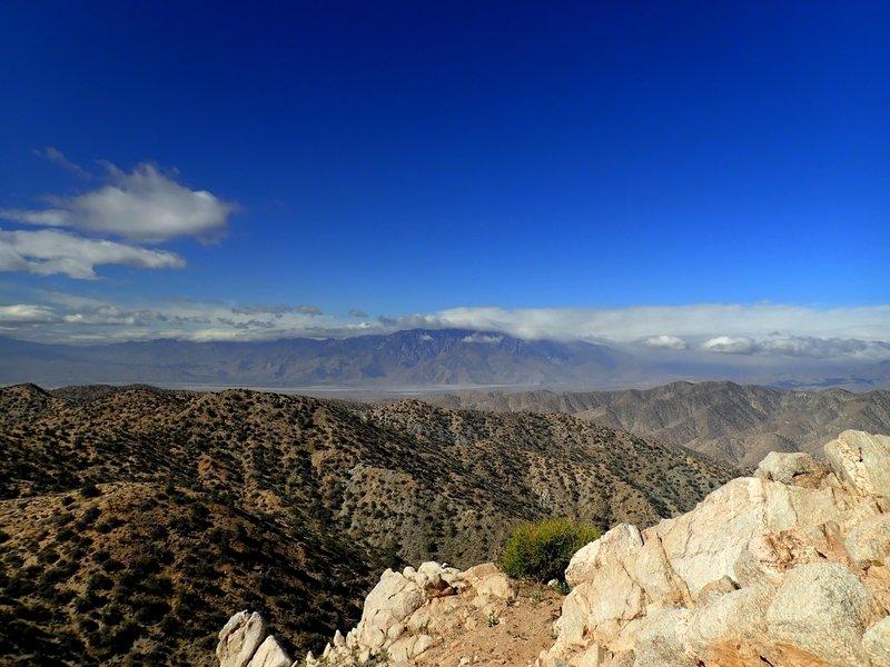 San Jacinto Peak (under clouds) from the summit of Warren Peak