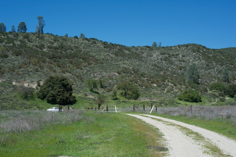 Approaching the end of the trail along Highway 25.