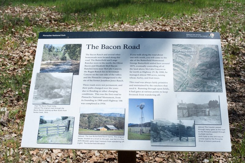 There are several interpretive signs along the first part of the trail that provide info on the families that lived in this area.