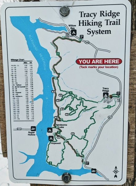 The trails are well marked and sign maps are at each loop.