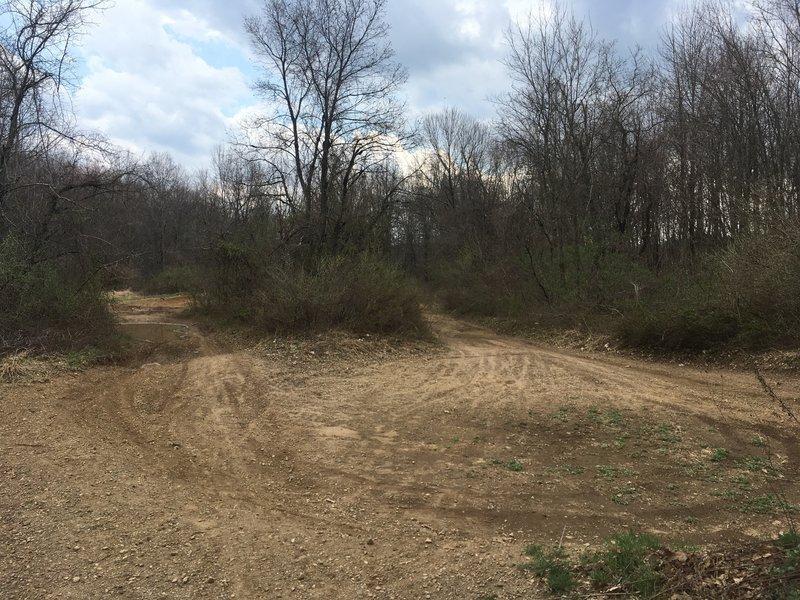 Mountain biking or motor biking track