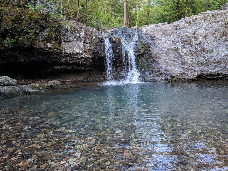 Waterfalls from below.