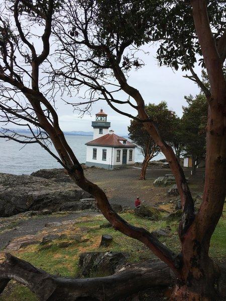 The Lime Kiln Lighthouse.
