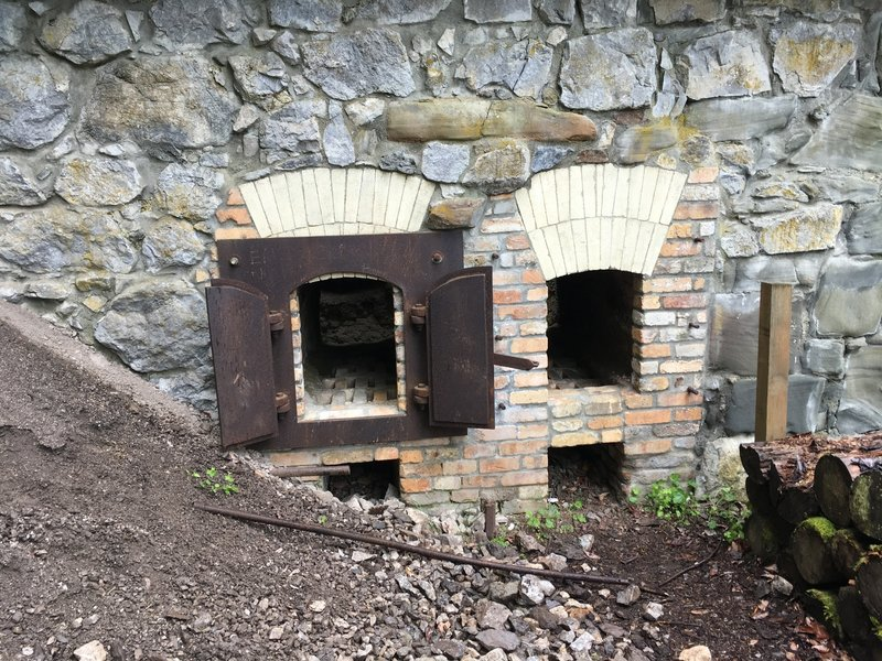 This is where a fuel would be loaded into the kiln.