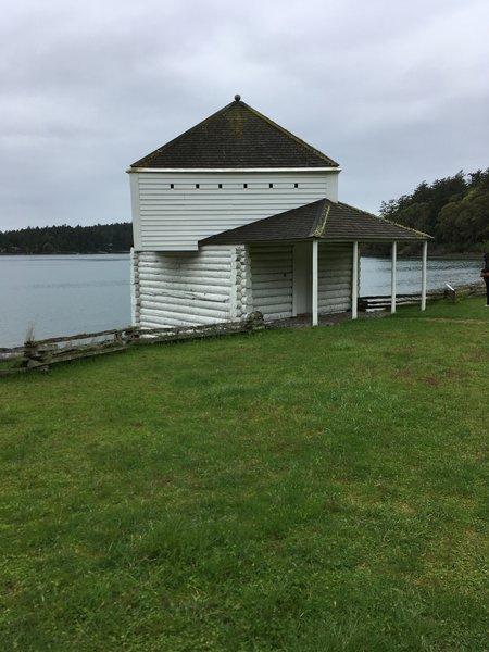 The historic blockhouse.
