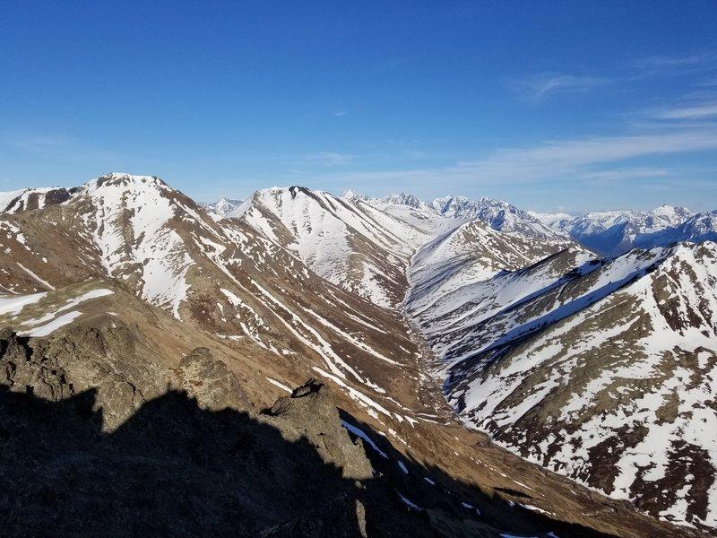 Blacktail Rocks summit view looking east toward Vista Peak