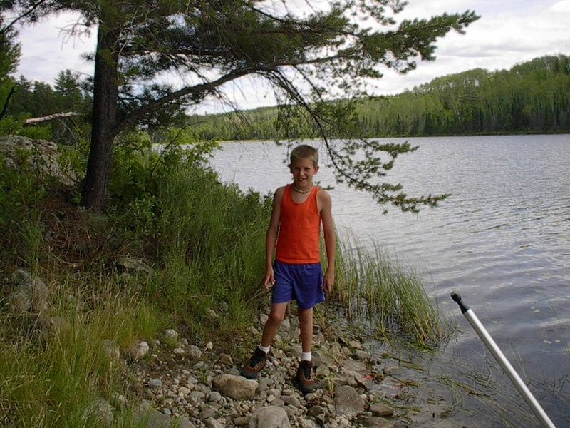 This is my oldest son about 15 years ago. This was the first time we checked out the canoes from the Kabetogama Visitor Center. We have a great adventure that day with the lake to ourselves.