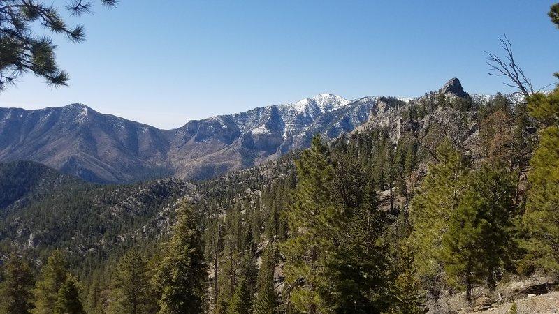 3 miles in... magnificent peak views!
