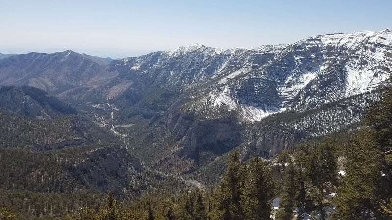 Amazing views everywhere! Looking down over the town of Mt Charleston.