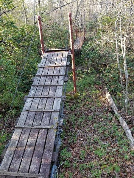 Suspension Bridge crossing creek