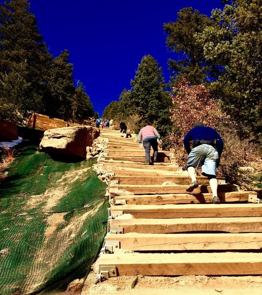 One of the steeper parts of the Incline.