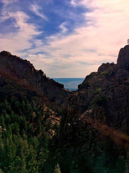 The incredible view of Stanley Canyon