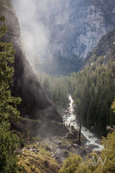 Looking down from atop Vernal Falls