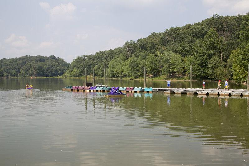 Paddle Boats at Lake Needwood.