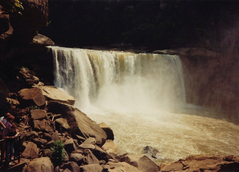 View of the falls after heavy rains