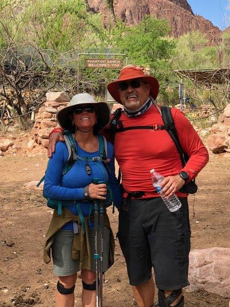 Hiked down south kaibab trail, Grand Canyon to phantom ranch